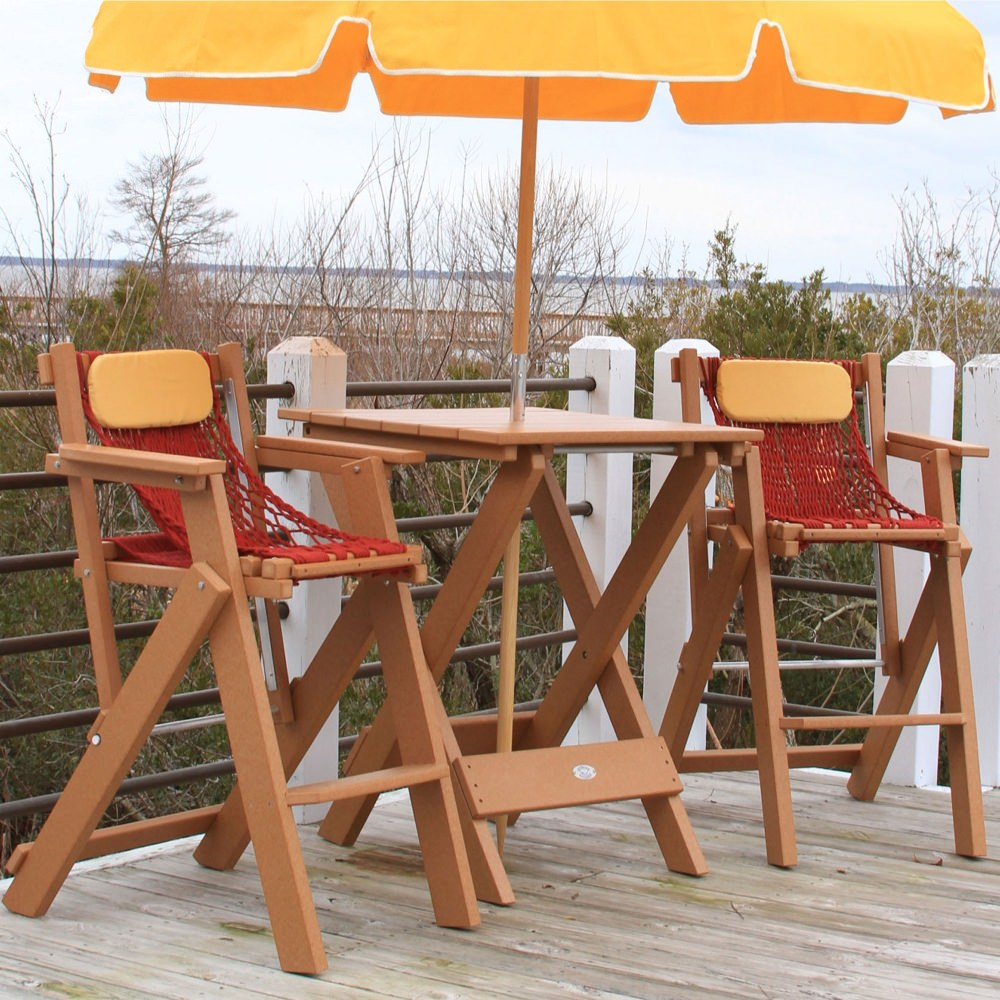 Durawood® Technology Folding Bar Table