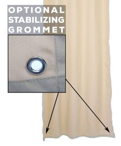 Stabilizing Grommets for Outdoor Curtains